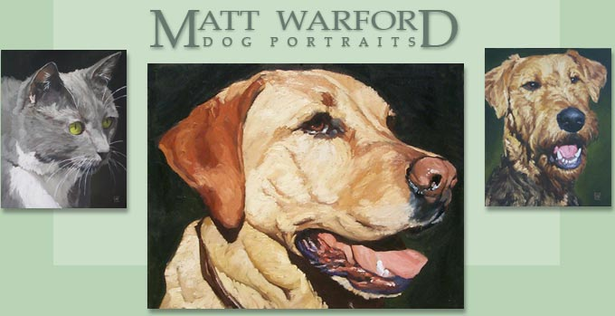 Visit Matt Warford's dog paintings